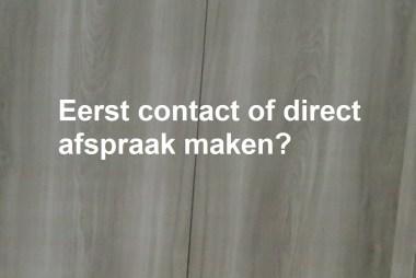 Contact of afspraak