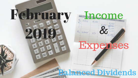 Feb 2019 Monthly Expenses & Income