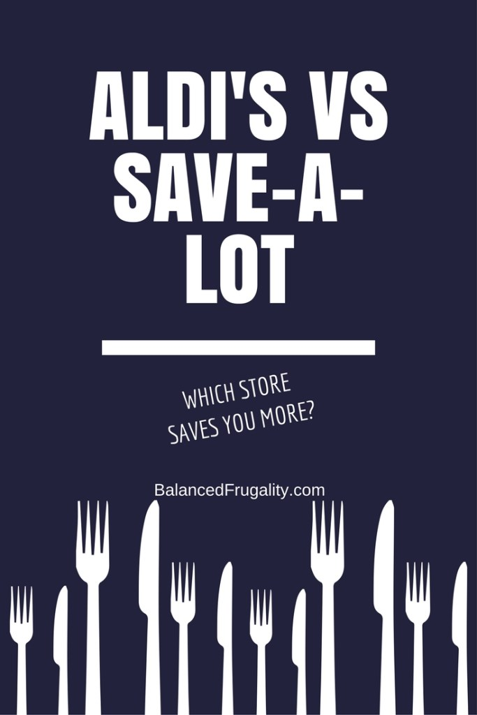 "Bargain stores can save you serious bucks over ""normal"" grocery stores. Here's how Save A Lot compares to Aldi's."