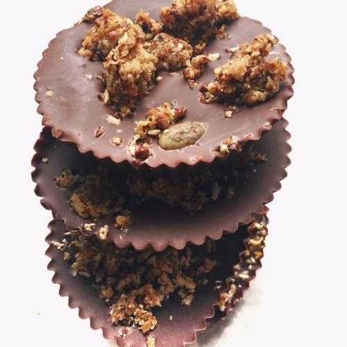 3 Ingredient No Bake Chocolate Granola Cup