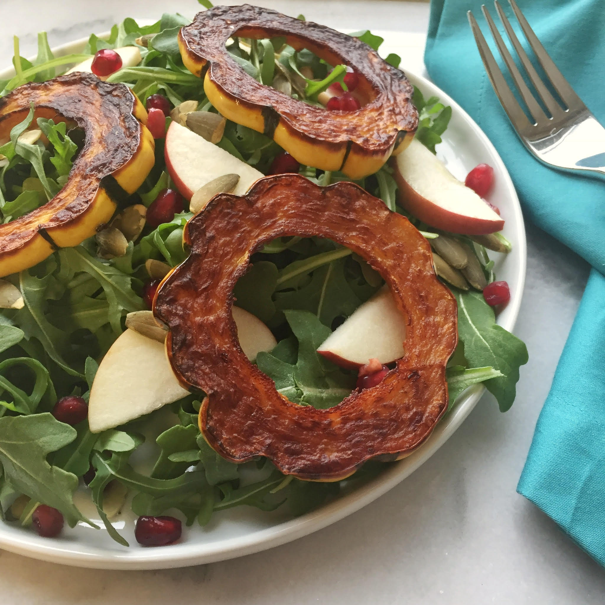 Whole30 Approved Roasted Delicata Squash Salad