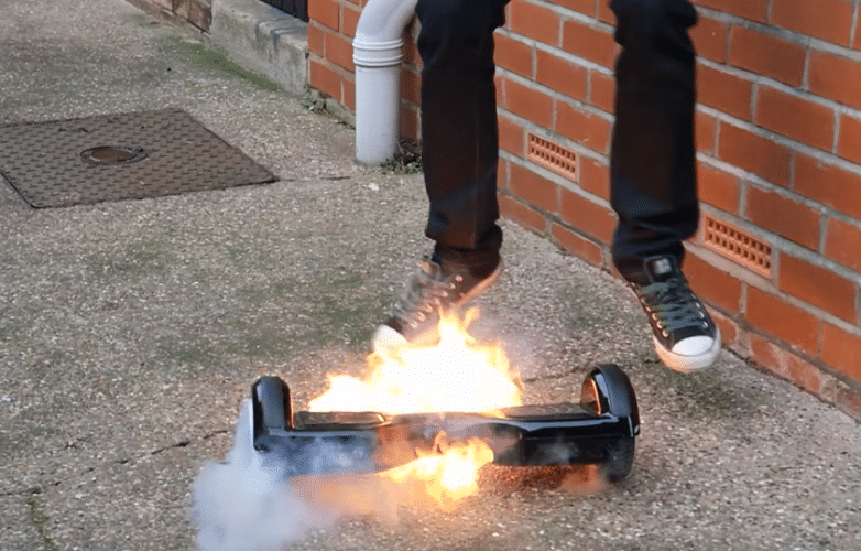 Dangerous Hoverboards Catch Fire