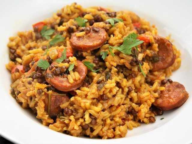 Spanish Rice with Chorizo