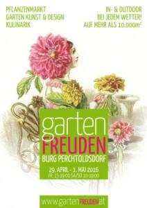 PLAKAT Gartenfreuden 2016