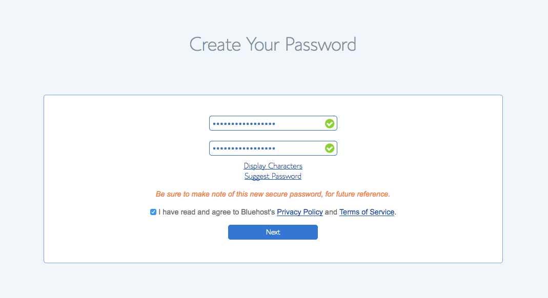 Password Step 2