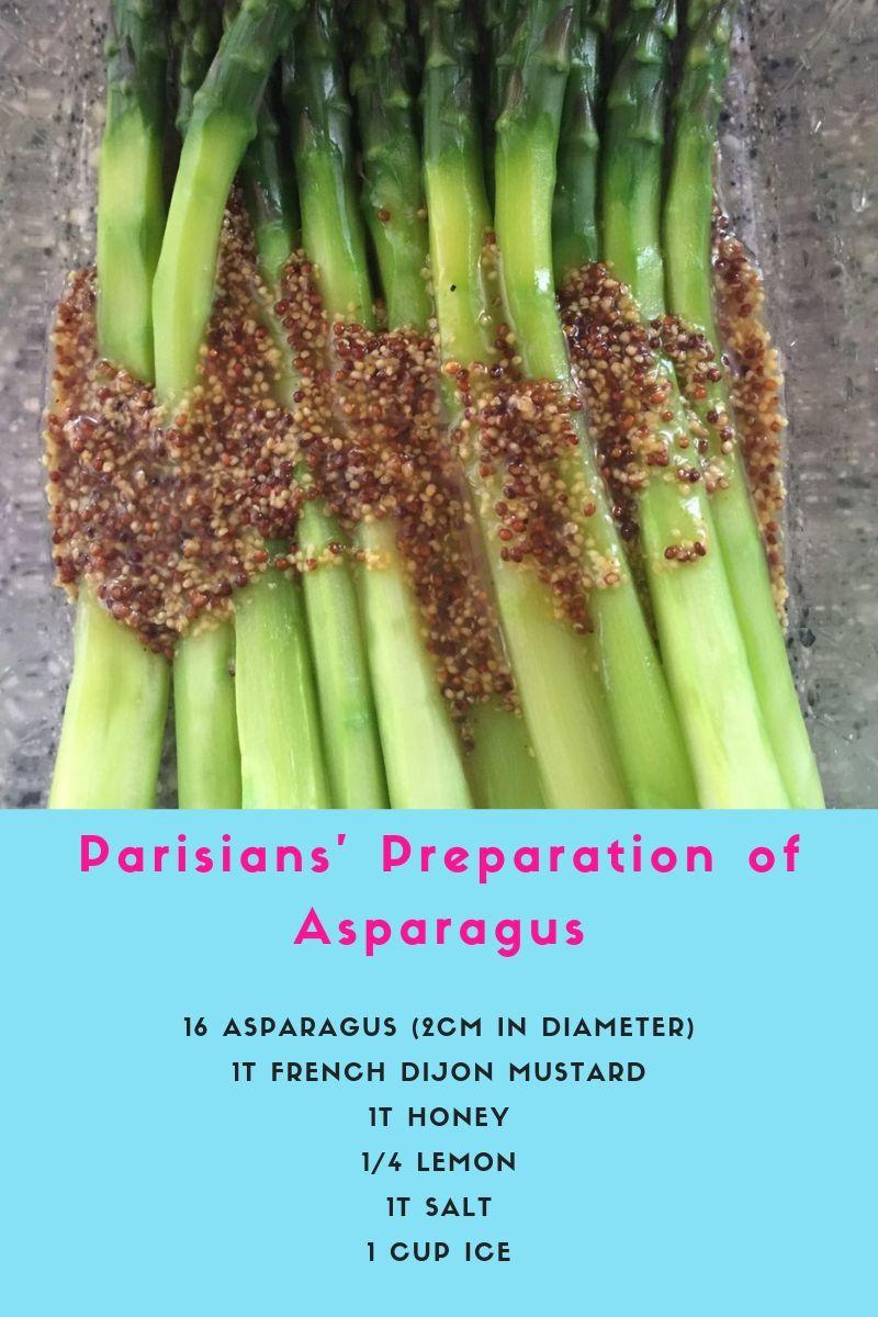 Parisians' Preparation of Asparagus Recipe