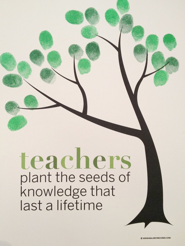 Classroom Fingerprint Tree Perfect Gift For Teacher Appreciation Or The End Of The Year Free
