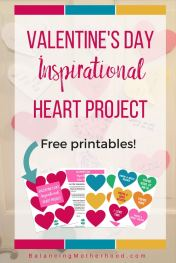 Leave cute Valentine's Day Messages in your kid's lunch boxes or bedroom doors with Printables from Alicia from Balancing Motherhood.