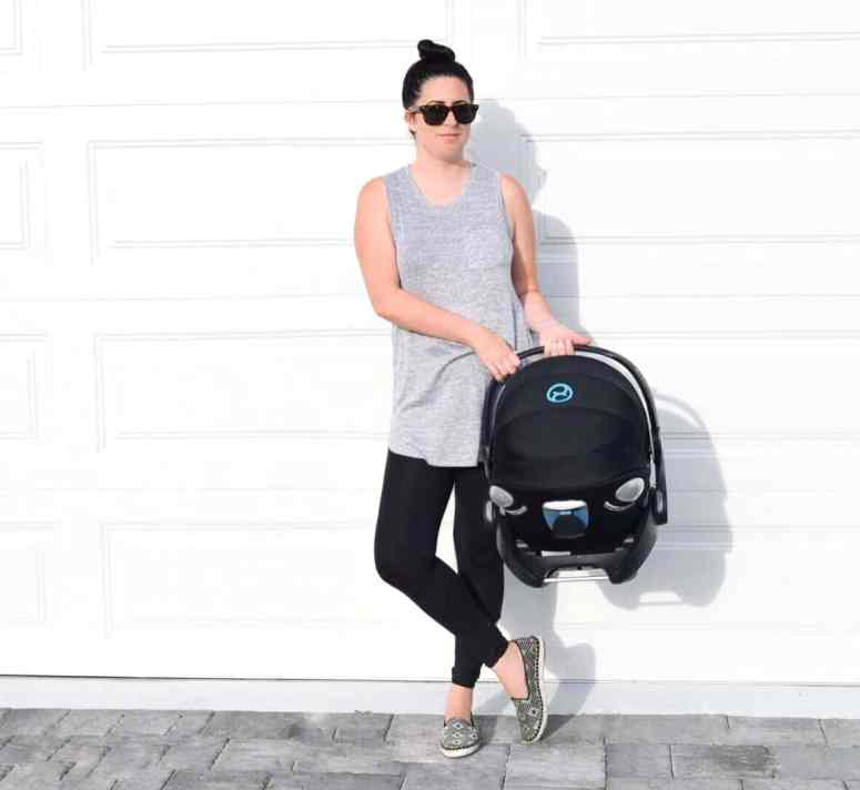 Orlando Lifestyle Blogger, Kristen from Balancing Pieces is sharing a review of the  CYBEX Cloud Q Infant Car Seat.