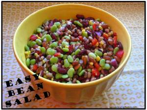 Easy bean salad