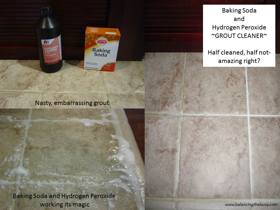 Baking Soda And Hydrogen Peroxide Grout Cleaner Balancing The Busy