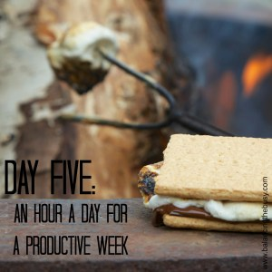 Day Five: An hour a day for a productive week