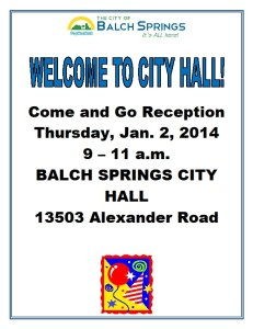 City Hall Reception Flyer2014