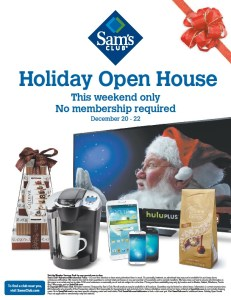 Sam's Open House December 20-22