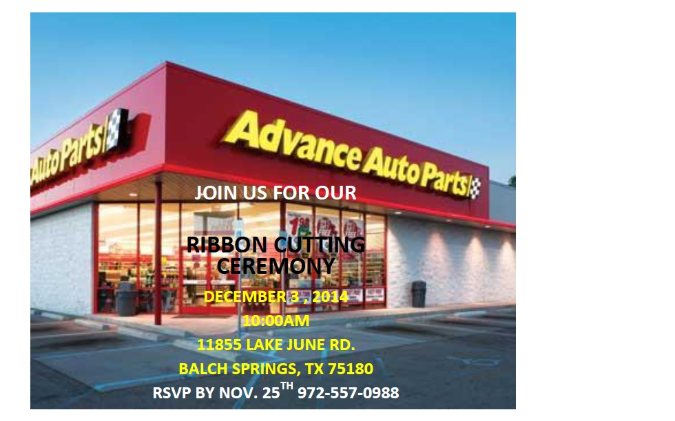 AdvanceAutoParts-Ribbon Cutting Flyer