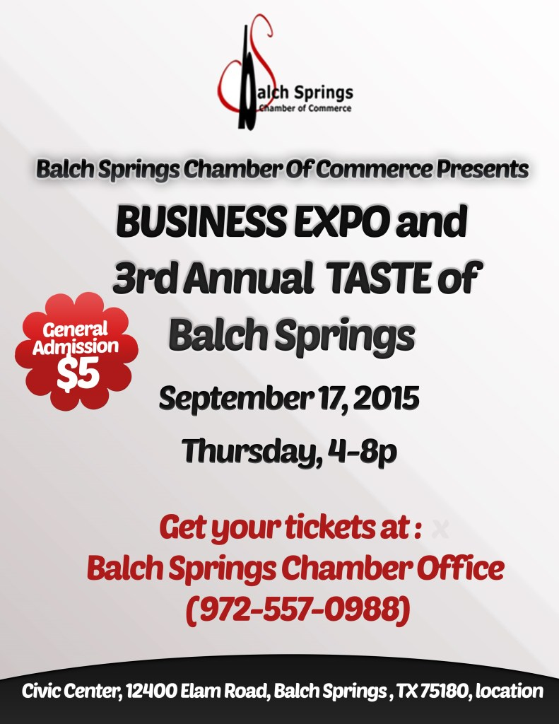 2015 Business Expo_Taste Flyer