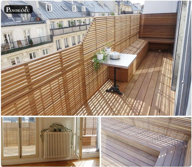 toit terrasse en bois exotique ipe