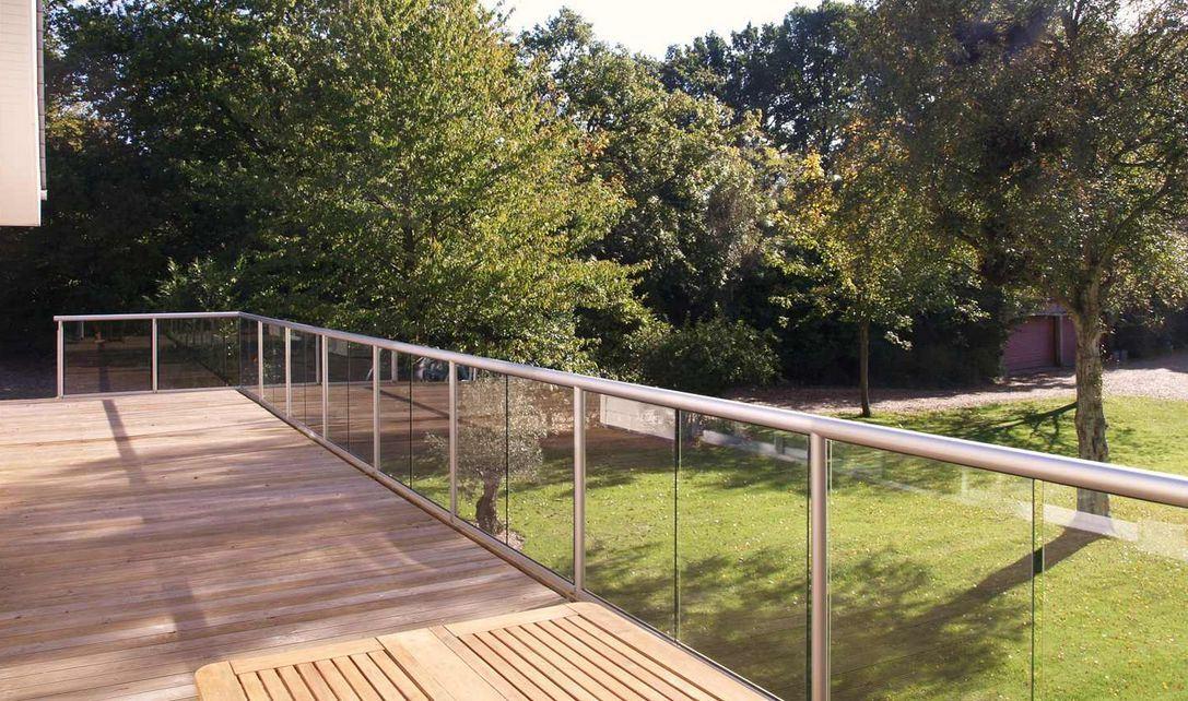 outdoor glass balustrade external