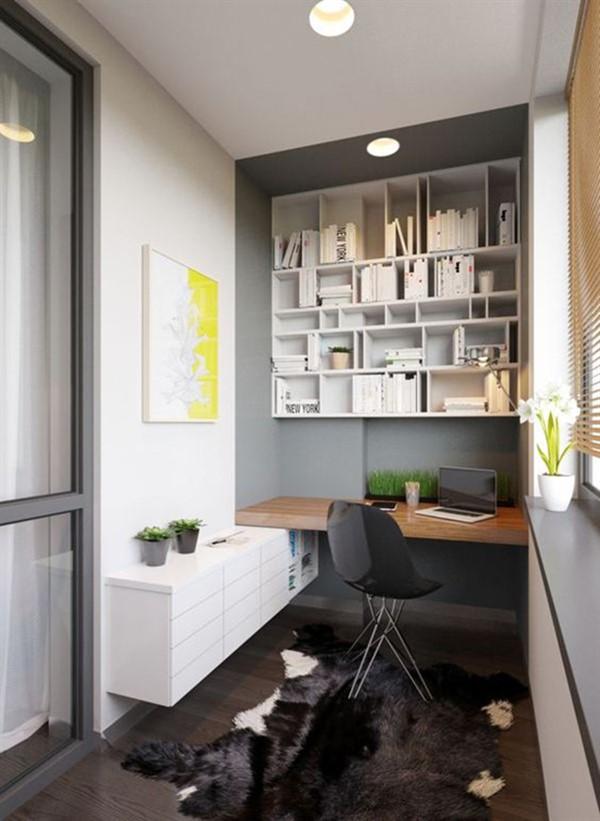 balcony home office workroom ideas