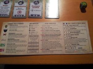 Uno dei 4 player aid identici contenuti nella scatola