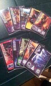 Le 10 incarnazioni di Wu Feng contenute nel set base; altre 6 carte sono contenute in White Moon