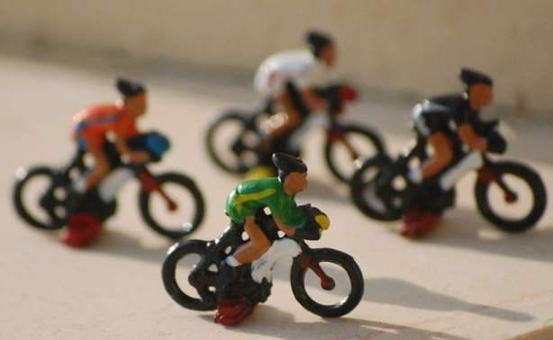 Dettaglio di alcuni ciclisti
