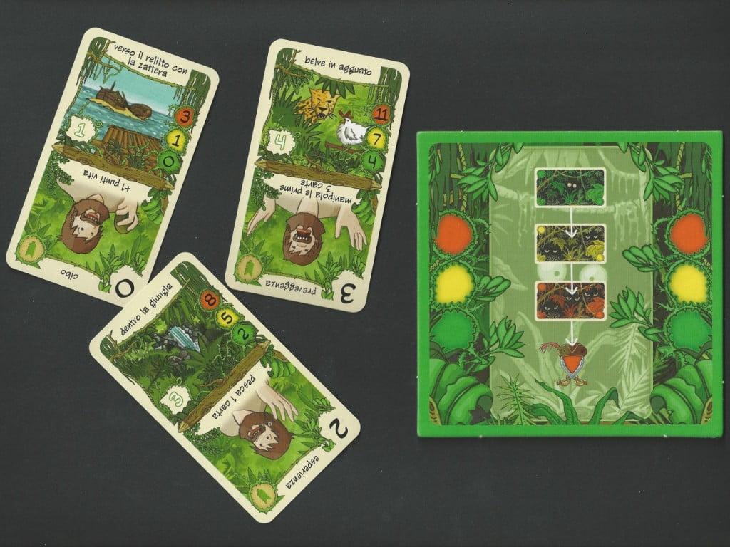 Mini-Board Carte A/C e alcuni esempi di Carte dal lato Avventura