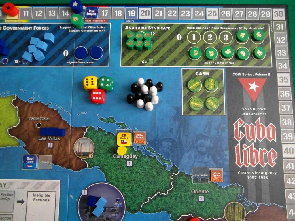 Al setup della partita i gangsters hanno piazzati tre Casinò, ma devono ancora organizzare gli scagnozzi sul territorio.