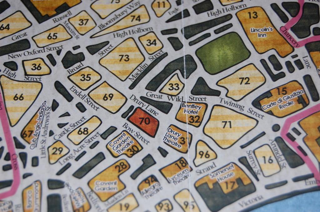 Dettaglio della mappa (edizione italiana 2014)