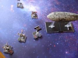 Il TIE Advanced dopo aver colpito il trasporto lo evita per un soffio e aggancia un X-Wing già danneggiato... i missili ne fanno scempio, disintegrandolo. E' la prima vittima per i ribelli.