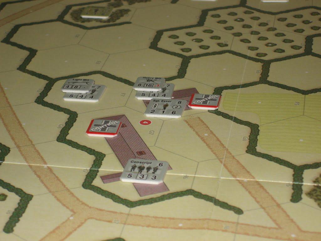 Combat Commander - Dettaglio di una mappa Europea.