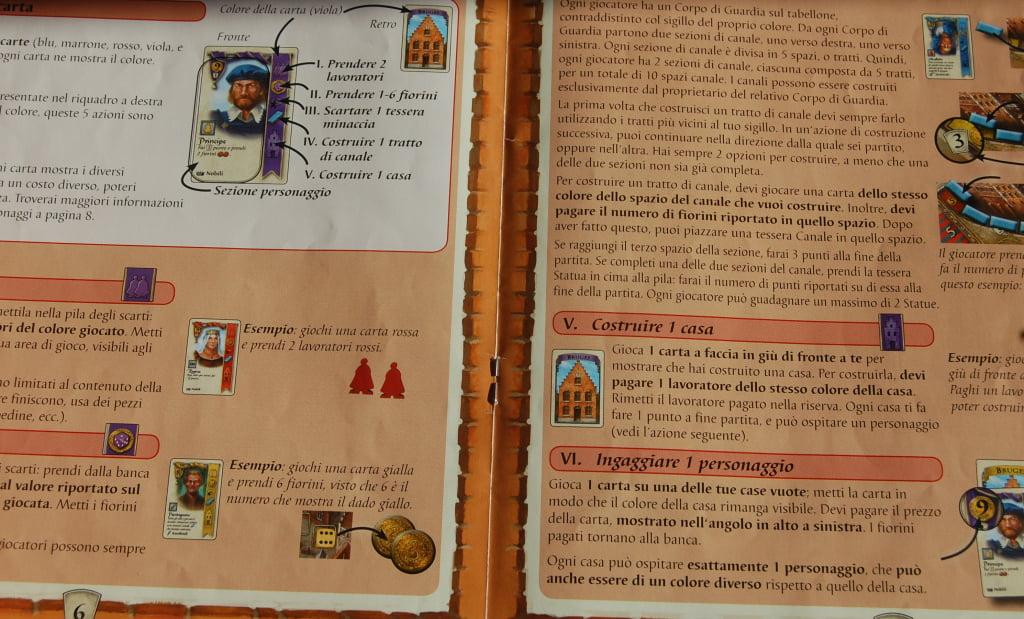 Il manuale e ben fatto. L'anatomia di una carta personaggio è chira e comprensibile.