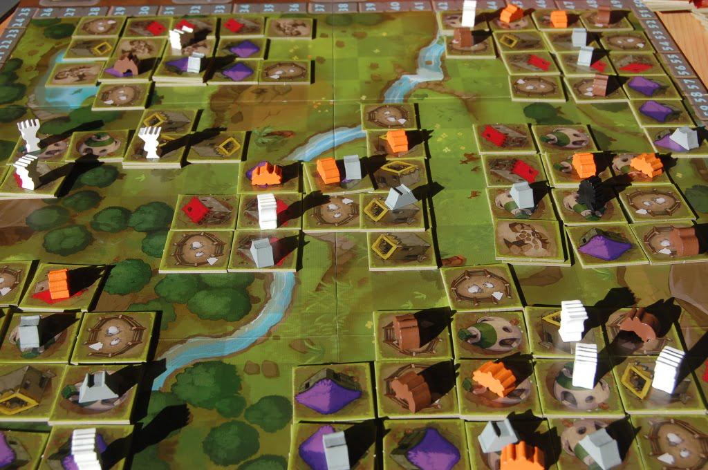 Ecco il vostro villaggio neolitico a fine partita!