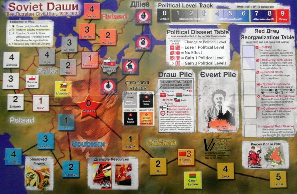 Mappa del gioco prima del setup