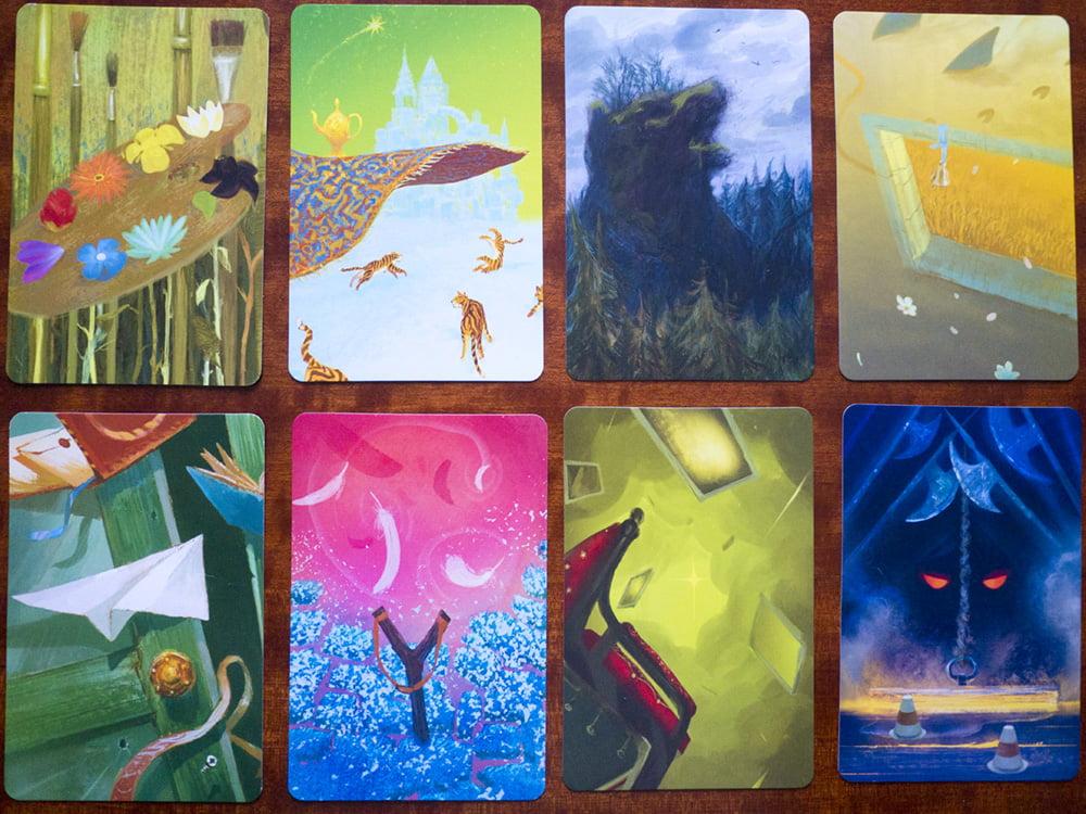 Alcune delle carte sogno incluse nella confezione: hanno un aspetto familiare, vero?