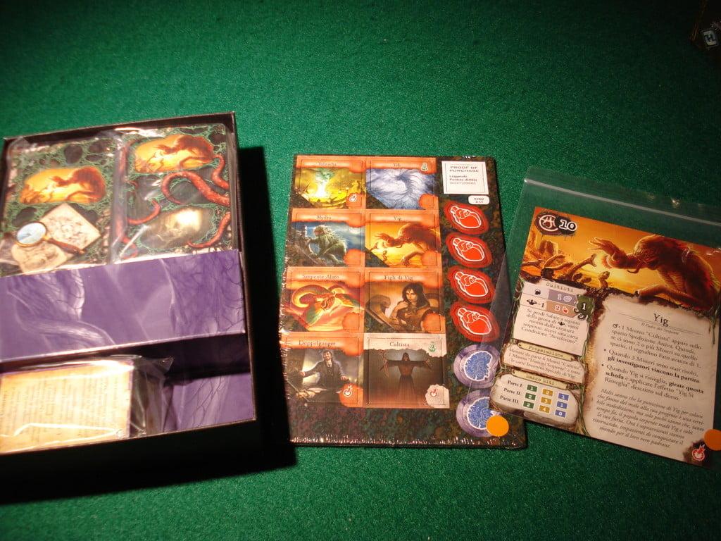 Unboxing: pochi counter (essenzialmente nuovi mostri leggendari) e molte carte!