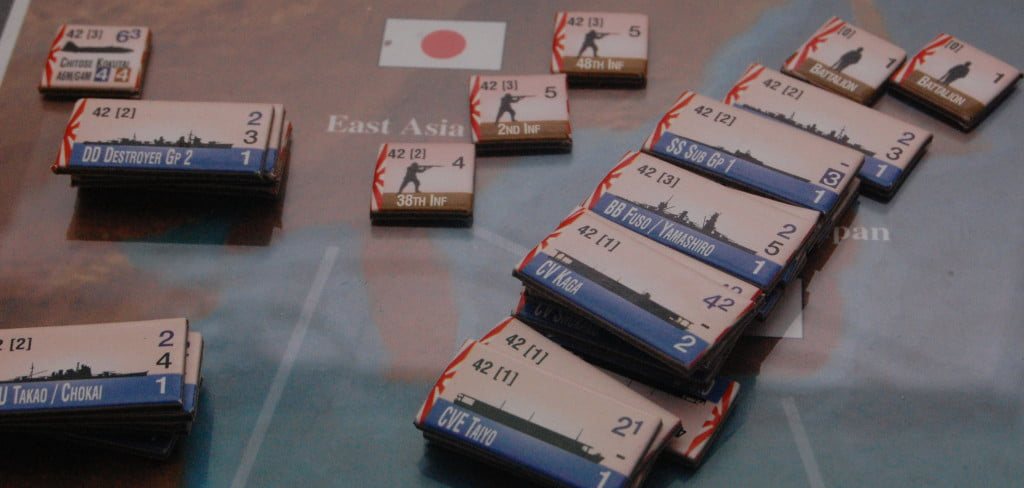 1942- La flotta del Sol Levante  pronta a lasciare   il Giappone.