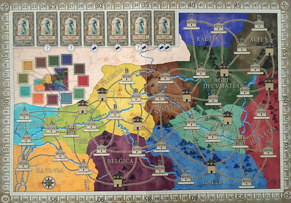 La nuova mappa Germania: tante città, tante province e, soprattutto, tanti castelli, la vera novità dell'espansione.