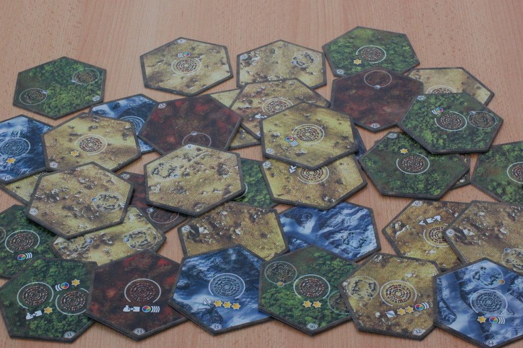 Gli esagoni che compongono la mappa. molto numerosi per partite sempre diverse