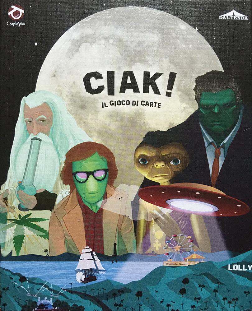 La copertina del card game Ciak