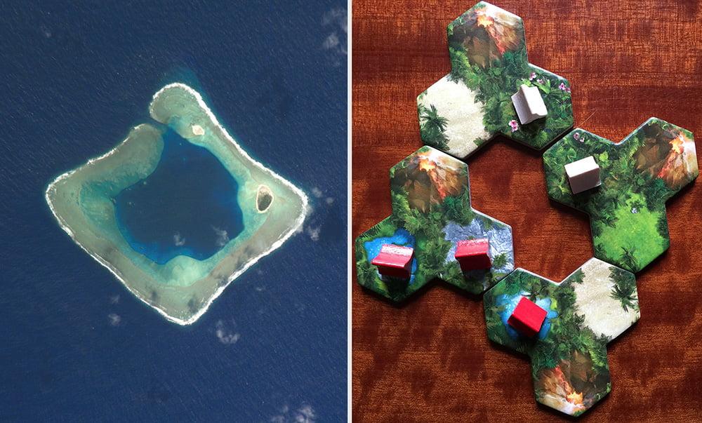 Due diversi atolli a confronto: notate qualche differenza?