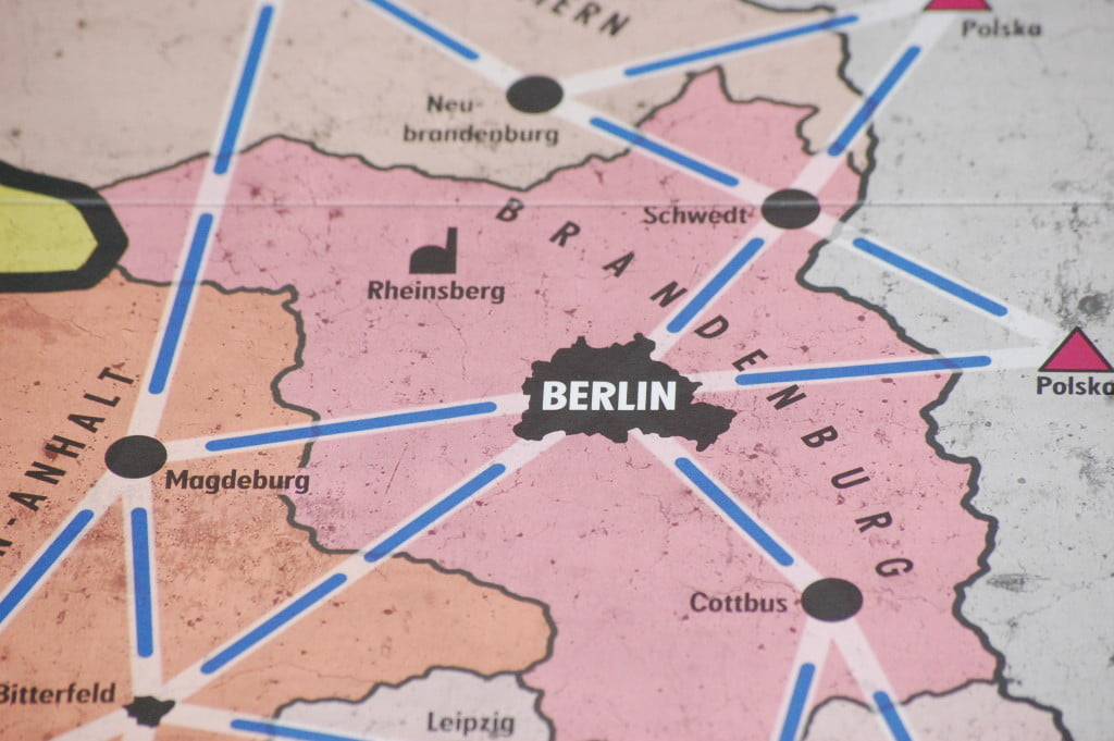 Berlino (Est) è una delle città che ha cinque possibili connessioni.