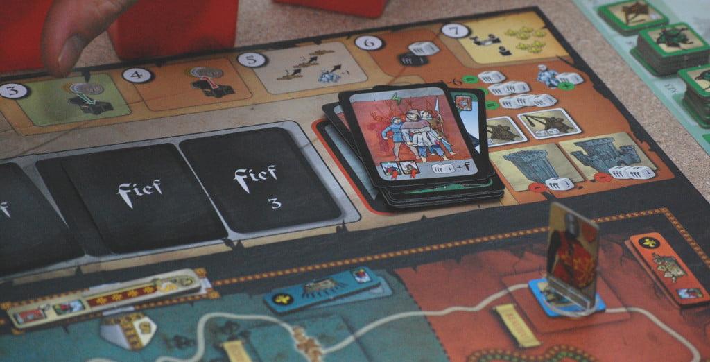 I mazzi di carte durante il gioco
