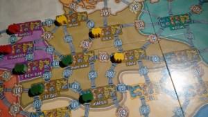 Nella fase 1 solo un giocatore può accaparrarsi una certa città... è mia!!!