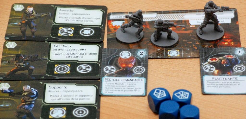 Confrontando le icone presenti sull'alieno/task e quelle degli XCOM è possibile comporre la squadra ideale per risolvere ogni missione.