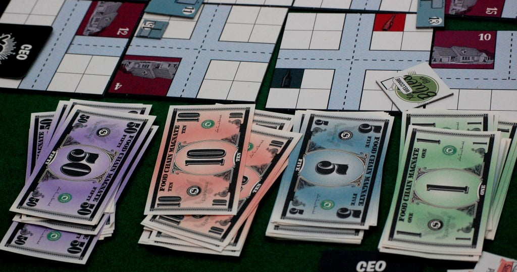 La moneta del gioco: stile Monopoli
