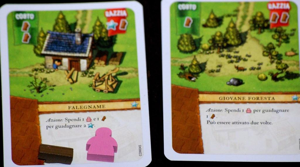 I giocatori pongono le risorse spese per attivare un'azione speciale sopra la carta stessa. In questo modo è facile ricordarsi se per quel turno l'azione è già stata utilizzata.