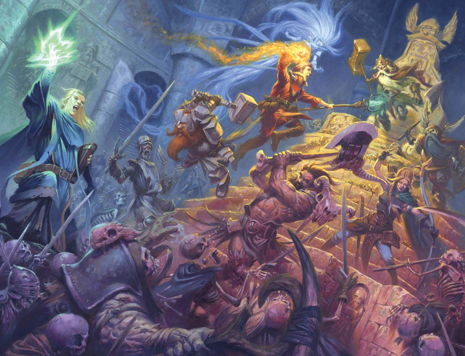 La copertina di Dungeon Saga è l'essenza dell'Heroic fantasy