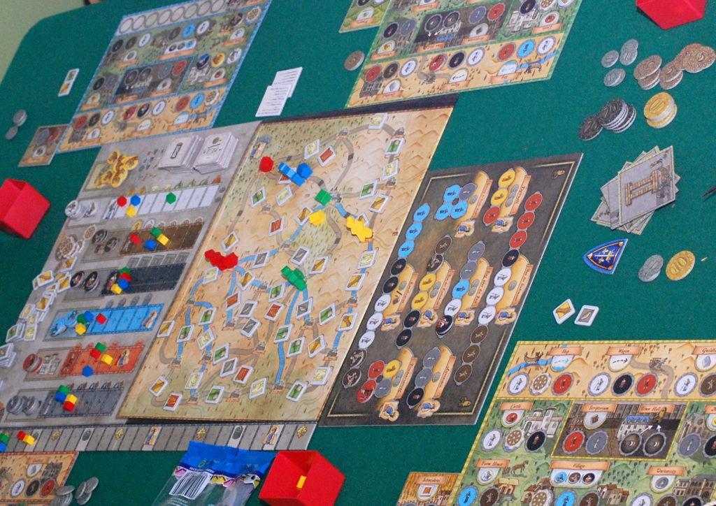 Una partita nel bel mezzo dello svolgimento. LA modellazione medioevale è, come da attese, piuttosto labile.