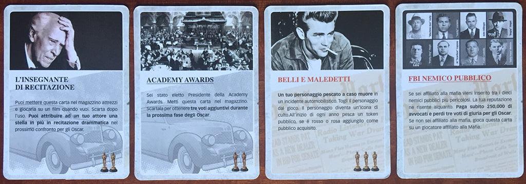 Diverse tipologie di carte evento: